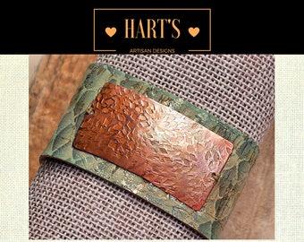 Snakeskin Cuff Copper Bracelet