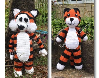 Hobbes tiger/ crochet Hobbes/ amigurumi  Hobbes/ tiger Hobbes/ Hobbes crochet/ Hobbes stuffed animal/ hobbes plush