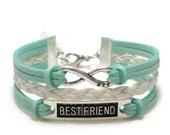 Best Friend Bracelet, Friendship Bracelet, Best Friend Gift, BFF bracelet, Best Friend Jewelry, Best Friend Infinity,  BFF Gift, BFF Jewelry