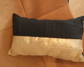 Cushion Granada black and gold