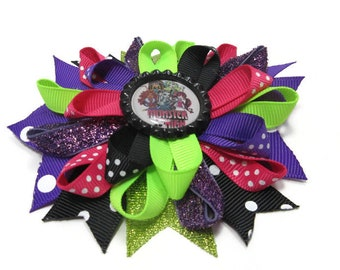 Monster High Loopy Hair Bow, Boutique Hair Bow, Over the Top Bow, Back to School Bow, Birthday Gift