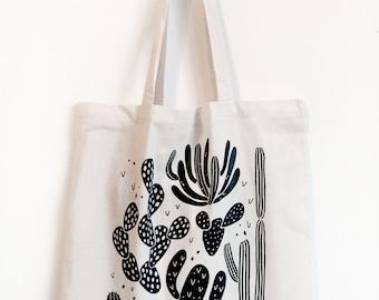 Cactus Canvas Tote Bag
