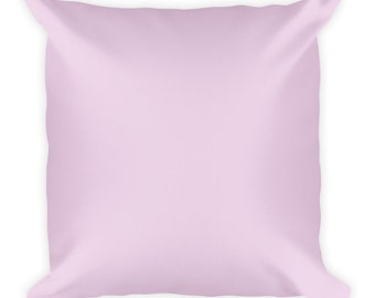 Square Throw Pillow-Pale-Pastel Baby Pink-Solid Colour-Lounge-Bedroom