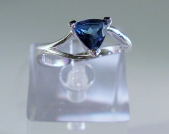 Mystic Blue Passion Topaz Sterling Silver Ring, size 8, 22 Dollars