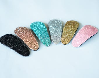 Small Glitter Snap Clip in 6 Colors