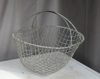 Vintage Wire Mesh Basket - Oyster / Mussel / Fruit / Vegetable