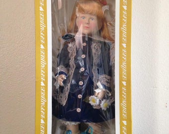 Effanbee Renoir's a girl with a watering can doll