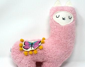 Llama Plush, Stuffed Llama, Plush Llama, Llama Stuffie, New Baby Gift, Girly, Heirloom Toy, Llama Lover