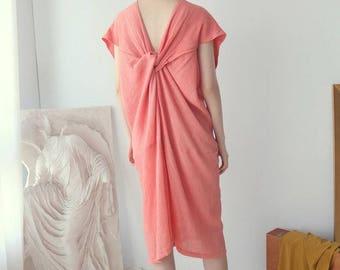 INKLEE DRESS - wrinkled cocktail dress with back twist detailing