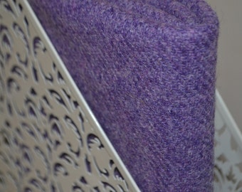 HARRIS TWEED FABRIC 100% pure virgin wool & authenticity labels lilac lavender purple Various Sizes
