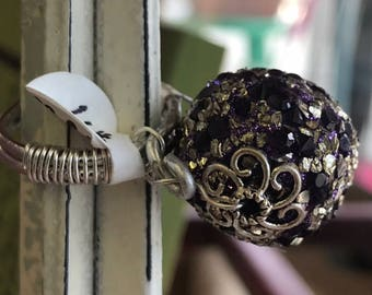 Purple  statement  Ring