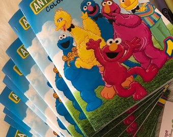 Sesame Street Coloring Book, Sesame Street Party Favor, Sesame Street Favors, Custom Coloring Book, Sesame Street Personalized Coloring Book