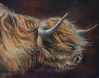 When The Wind Blows (Highland Cow)