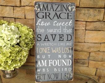 Amazing grace sign, spiritual sign, religious sign, motivational sign, inspirational sign