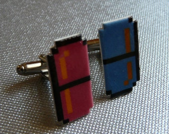 shrinkydink pills - dr. mario cufflink pair