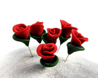 Rose Pin Topper Set of 6