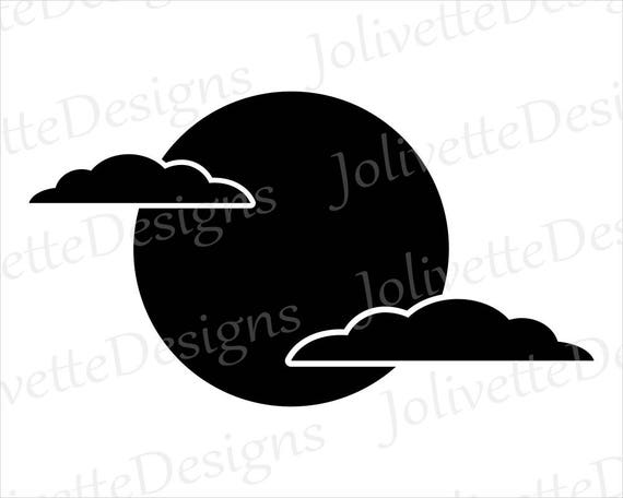 full moon clouds night sky clouds clip art clipart design rh etsystudio com christmas night sky clipart night sky stars clipart