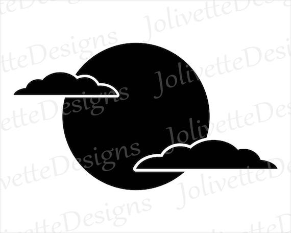 full moon clouds night sky clouds clip art clipart design rh etsystudio com night sky clipart free christmas night sky clipart