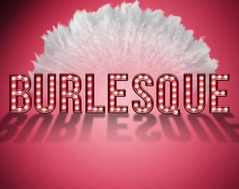 Digital Alphabet Burlesque Marquee Scrapbook Elements & PSD