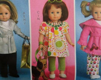 18 INCH DOLL CLOTHES Pattern • McCalls 5775 • Doll Wardrobe • Doll Dresses • Doll Coat • Sewing Patterns • Craft Patterns • WhiletheCatNaps
