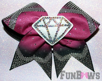 Beautiful Rhinestone Diamond Ombre Cheer Bow by FunBows ! - WOW !