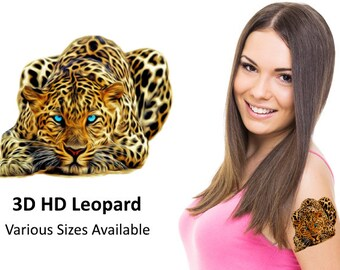 3D HD Leopard - Temporary Tattoo
