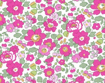 Printed fabric Liberty pattern Liberty Betsy pink green