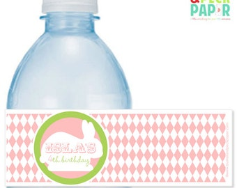 Bunny #Party Water #Bottle #Labels