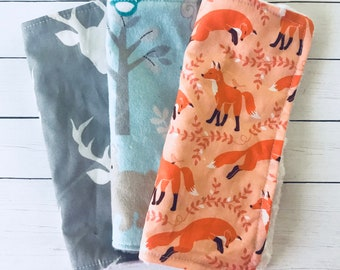 Deer Washclothes-Fox Washclothes-Baby Washclothes-Baby wipes- Baby Shower Gift-Deer Baby Gift-Baby Boy Washclothes