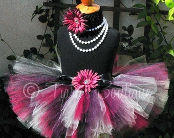 Elegant Beauty - Custom Sewn Tutu - sizes Newborn to 5T - up to 12'' length