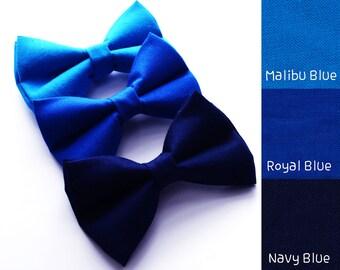 Royal Blue/Malibu blue/Navy Blue bow tie, boy bow tie, baby bow tie, adult bow tie, men's bow tie,wedding bow tie