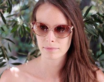 YSL Vintage Cat Eye Eyeglasses Stunning YSL Cats eye unique gift idea  for retro girl