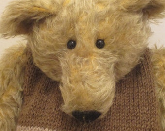 Wilbur - a large OOAK hand stitched mohair artist bear.
