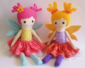 Fairy, soft doll, PDF Sewing Pattern Direct Download