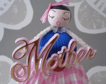 Vintage Inspired Mother's Birthday, Gift Dolly