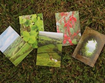 Celtic Notecards & Envelopes  - Irish Landscapes - 5 mini Notecards with Envelopes (ATC 2.5x3.5)