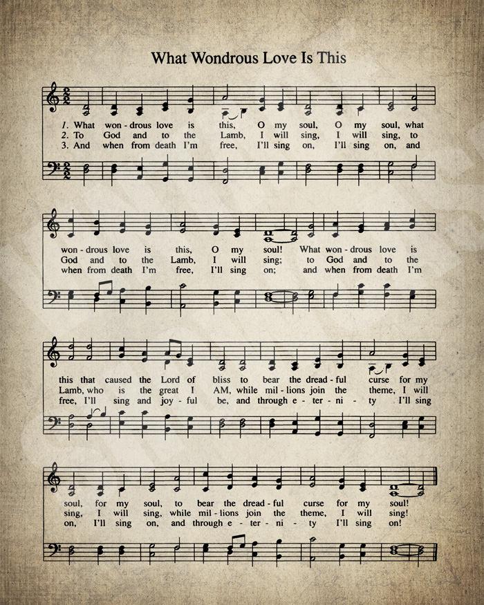 What Wondrous Love Is This Hymn Lyrics Sheet Music Art