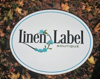 """Outdoor Small Business Sign 30"""" X 24"""" Boutique Retail Salon Sign"""