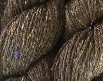 Chocolate Sprinkle Wool Silk Yarn