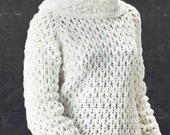 1618Li ladies jumper crochet  summer wear  for ladies vintage pattern PDF instant download