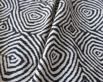 Black and White Cotton Kantha Fabric