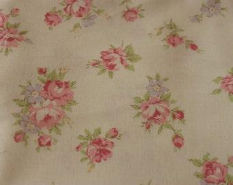 Yuwa Rose on Cream 826075A Cotton Fabric