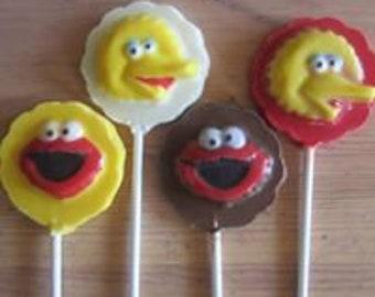 Sesame Street Chocolate Lollipop Sucker Candy Mold
