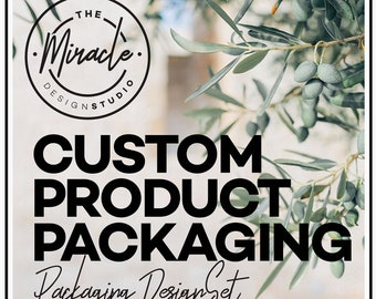 Custom packaging design SET - Product packaging - Custom product label - Graphic design - New Brand