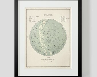 Popular Guide to the Heavens Plate 44 Star Chart Constellations