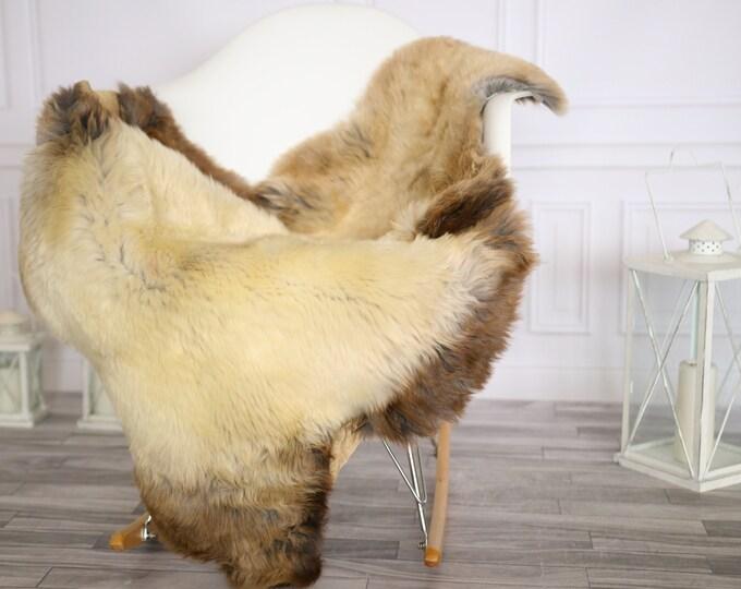Sheepskin Rug   Real Sheepskin Rug   Shaggy Rug   Chair Cover   Sheepskin Throw   Brown Beige Sheepskin   Home Decor   #Apriher48