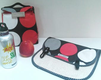 Snack bag waterproof kids / lunch bag for school / lunch box snack / kids lunch bag / pouch for lunch or picnic
