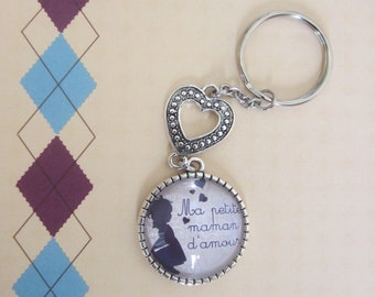 "Gift for MOM - ""My little love MOM"" keychain"""