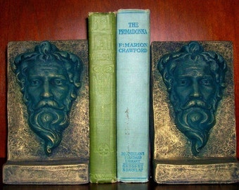 Gothic Mythical Medievel Green Man Bookends Pair 14002 AOH Studio
