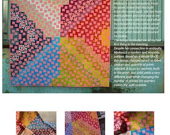 Medusa courtepointe moderne papier à motif